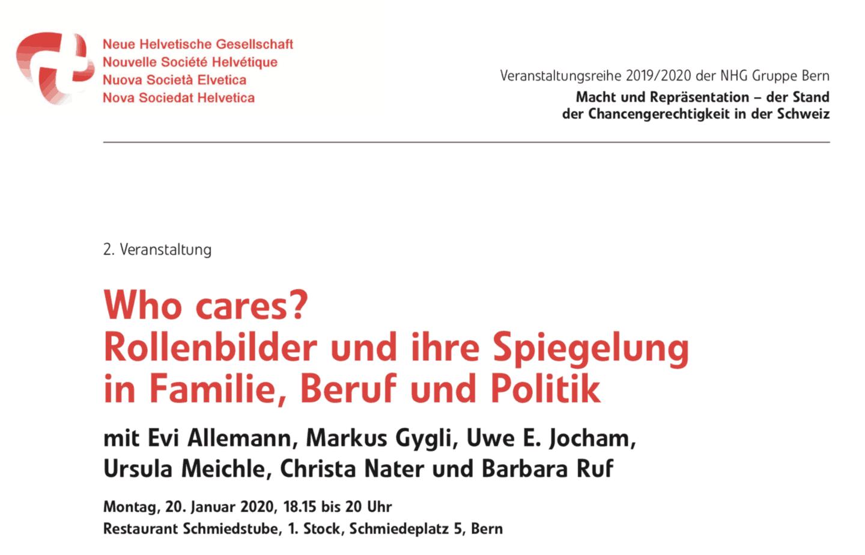 Who cares? Rollenbilder und ihre Spiegelung in Familie, Beruf und Politik