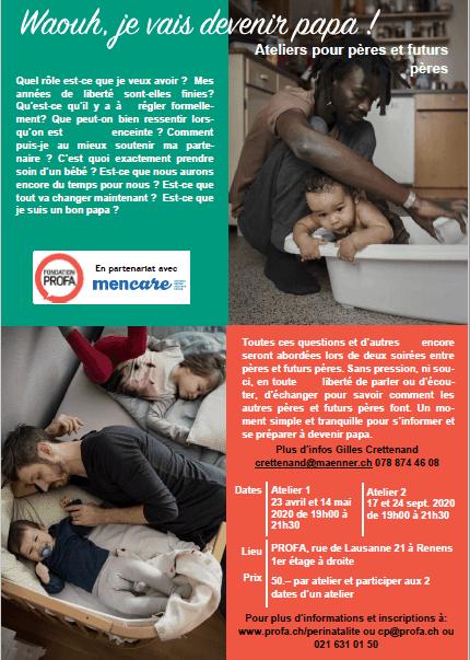 Atelier Waouh, je vais devenir papa! en partenariat avec PROFA Vaud - Renens